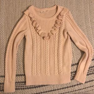Gap kids cable knit ruffle sweater